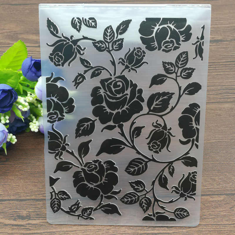 Roses Plastic Embossing Folders for DIY Scrapbooking Paper Craft/Card Making Decoration Supplies