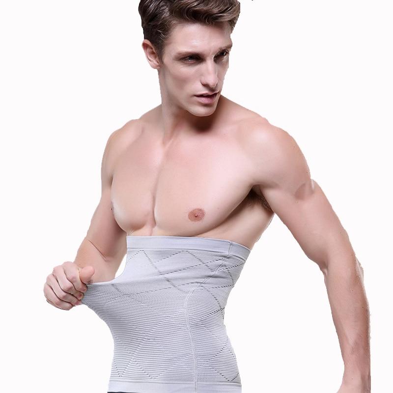 1pcs Men's Fitness Slimming Belt Men Tummy Waist Belly Fat Male Slim Body Shapewear Girdle Belt Band Corset Waist Support Train(China)