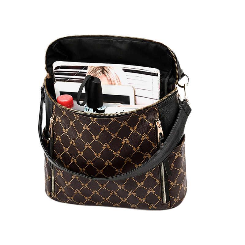 2019 Новый женский рюкзак из искусственной кожи Роскошная женская сумка на плечо водонепроницаемые школьные рюкзаки для девочек рюкзаки дорожные книги рюкзак