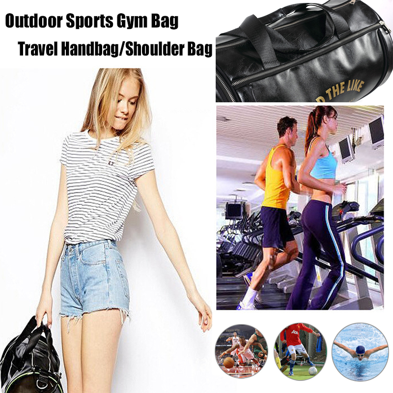 Top PU Outdoor Sports Gym Bag Men Women with Training Storage Shoes - Beg sukan - Foto 6