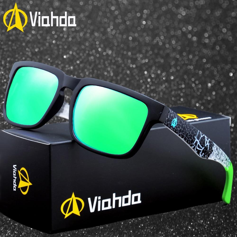807d9a088e694 Viahda 2019 Novos Óculos Polarizados Óculos De Sol Dos Homens Mulheres de  Design Da Marca
