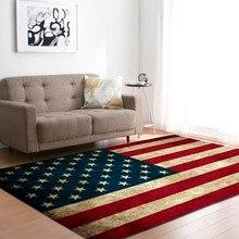 Nordic Große Wohnzimmer Teppiche Weiche Flanell Amerika Nationalen Flagge Tee Tisch Bereich Teppiche Kinder Krabbeln Spielen Matte Teppich und teppich