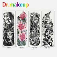 New Fashion Tattoo Sticker Unisex Waterproof Temporary Buddha Shantou Rose Ghost Women Men Body Art Fake Tatoos Chains