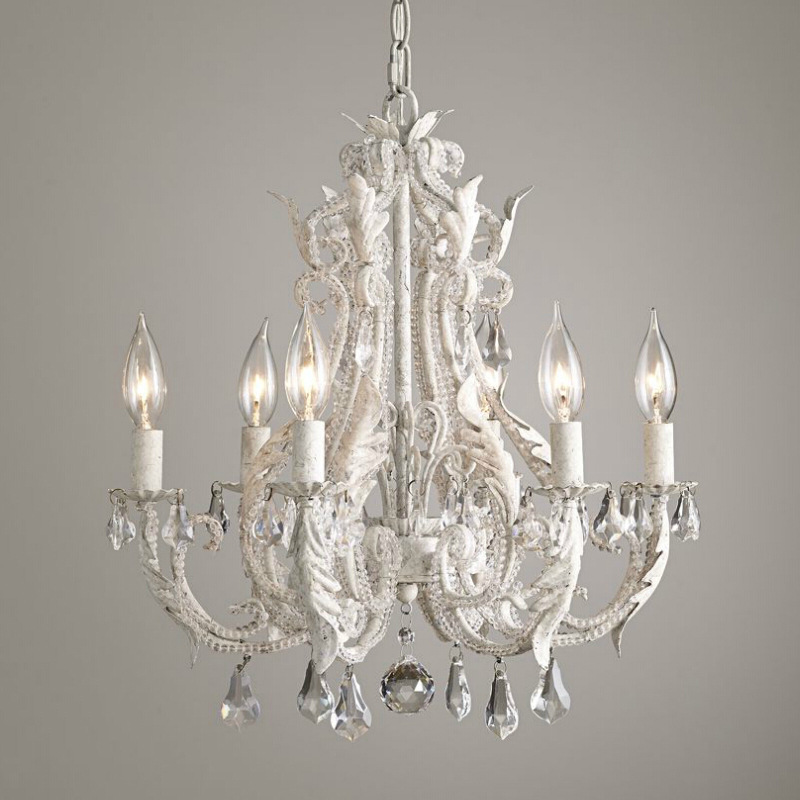 American country wrought iron retro crystal chandelier bedroom living room dining room Princess room childrens room chandelier american creative personality features simple and warm bedroom dining room chandelier retro country iron chandelier