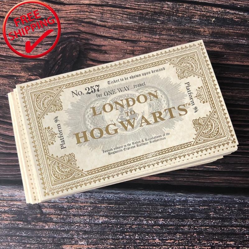 1 Pcs Harry Movie London To Hogwart Express Replica Train Ticket Platform NO. 257 For One Way Travel 10.8*6.2 Cm