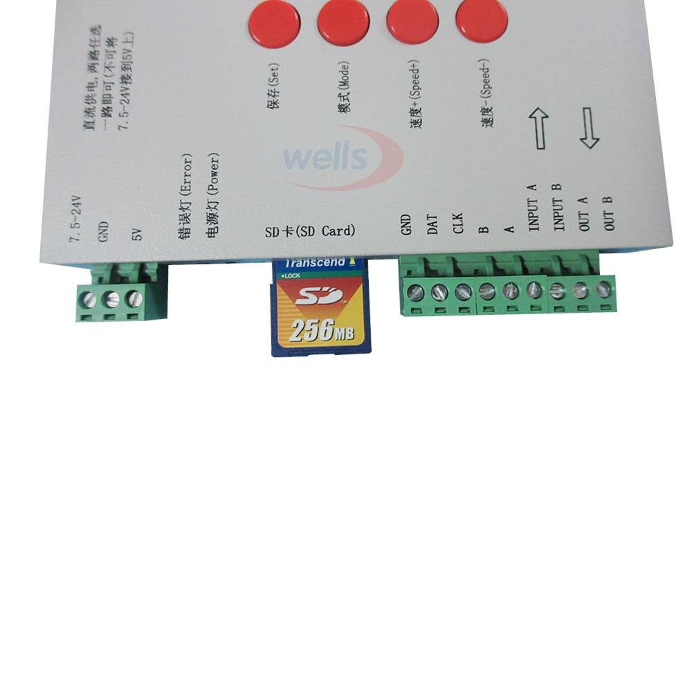Origina DC5 ~ 24V T-1000S SD kartica kontroler za LPD6803 WS2811 - Različiti rasvjetni pribor - Foto 4
