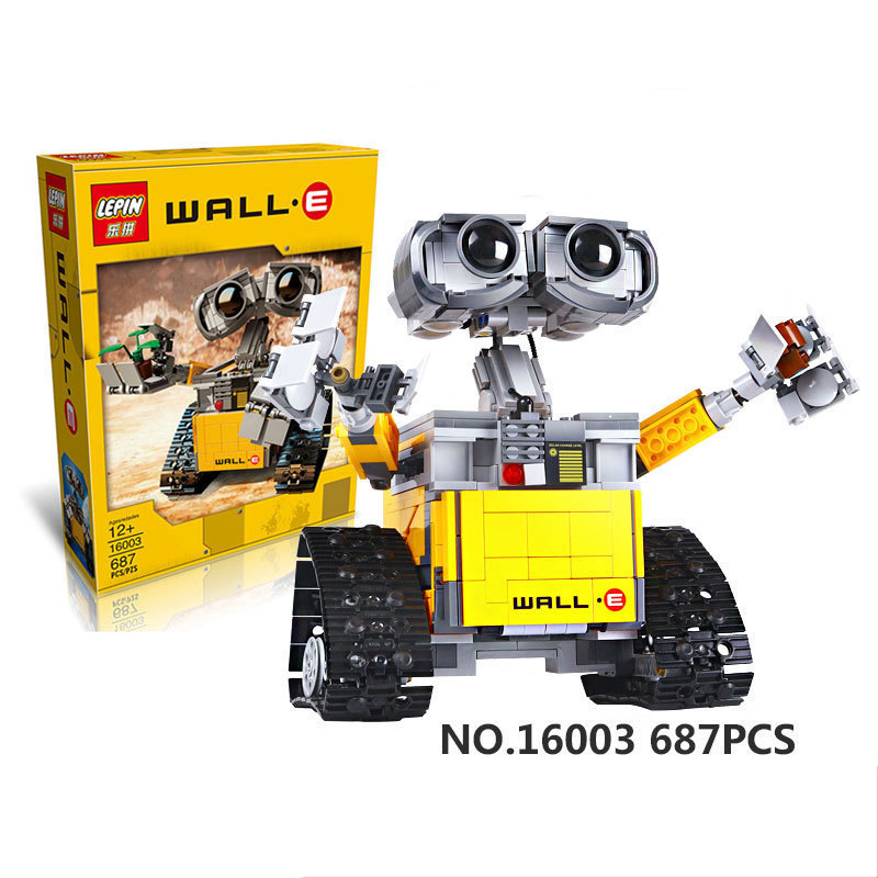 Lepin 16003 687 Pieces Idea Robot WALL E Building Blocks Bricks Blocks Toys for Children WALL-E Birthday Kids Gifts 2017new lepin16003 idea robot wall e building set kitstoys e kits blocks single sale brickstoystoys for childrenbirthdaygifts