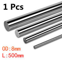 DIA 8mm X L500MM Chrome Cylinder Linear Optical Axis Shaft Rail Round Steel Rod