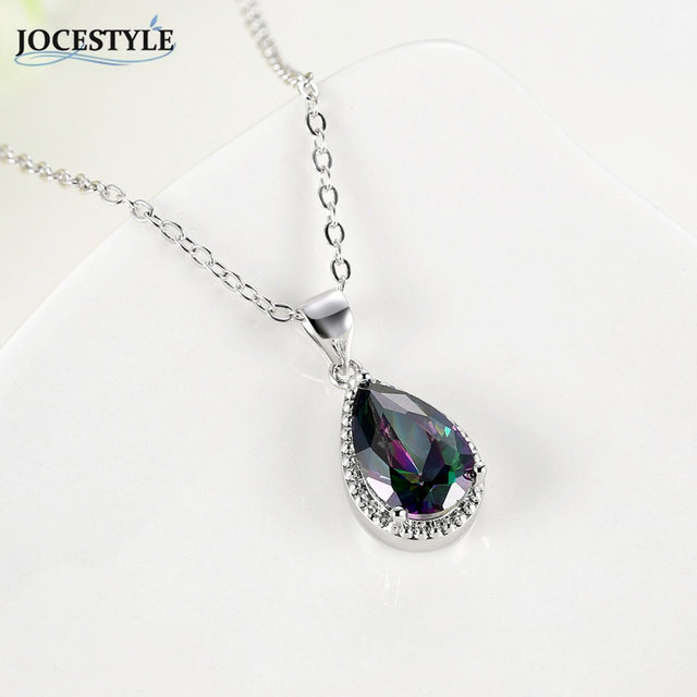 Black zircon necklace for women teardrop crystal long necklace black zircon necklace for women teardrop crystal long necklace steampunk boho vintage necklace collier femme silver aloadofball Gallery