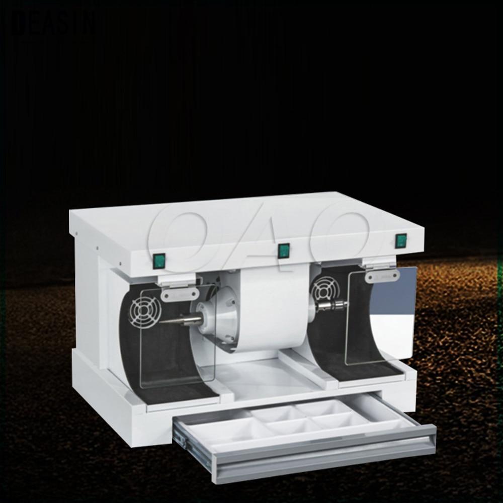 цена Stone Polishing Machine Grinding Machine with LED Electric Bench Grinder ToolsJade walnut jewelry polishing