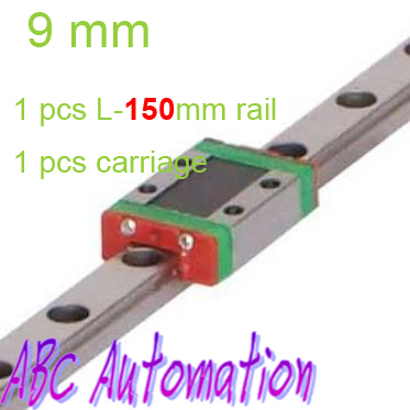 ФОТО Free Shiping miniature linear rail for 1pcs MGN9 L150mm linear guide+ 1pcs MGN9C carriage for CNC router XYZ table