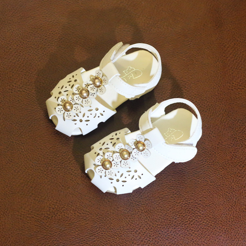 Summer Baby Shoes Sandals For Girls ChildrenS Sandals Hollowed Out Princess Shoes Kids Flowers Toddler Shoes Non-Slip Sandals ...
