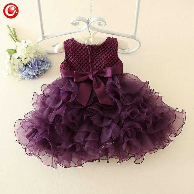 1 Year Birthday Baby Wedding Dress Floral Lace Ball Gown Christening Infant Girls Party Frock Dresses Princess Vintage Clothes