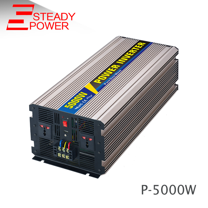 5kw Чистая синусоида Инвертор 12 В 24 В 220 В 5000 Вт генератор на инвертор для солнечной батареи с сеткой 5000 Вт Инвертор
