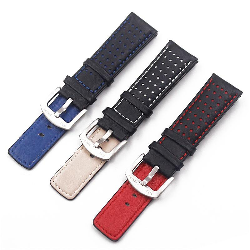 Watch accessories leather strap men's watch accessories strap  outdoor sports waterproof sweat-proof leather strap women's strap