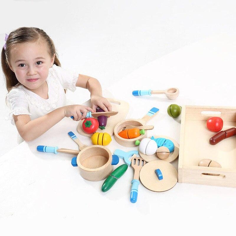 Nouveau grille-pain fraise nourrissons jeunes enfants en bois maison de jeu en bois cuisine jouets enfants maison de jeu jouets jouer nourriture