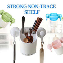 New listing Creative Power Plastic Powerful Suction Cup Garbage Bag Kitchen Clip Garbage Storage Rack Wall Mounted Bracket Stora