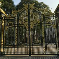 double gate wrought iron fence gate sliding fence gate