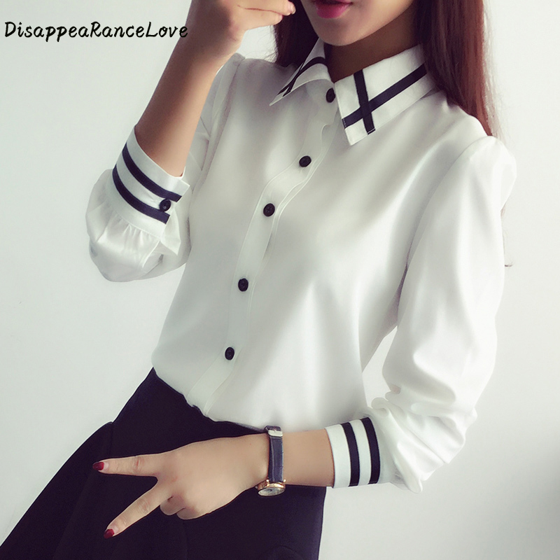 Long Sleeve White Blouses