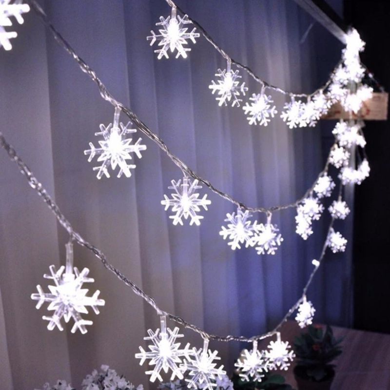 1M 2M 4M 10M 3AA Battery Snow Flakes Led String Fairy Light Xmas Party Home Wedding Garden Garland Decoration for Christmas Tree ...