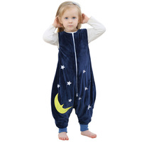Baby Boys Girls Sleepwear Robes Autumn Children Sleeveless Rompers Flannel Animal Jumpsuits Pajamas One Piece Blanket