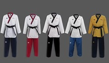 Original KPNP World Taekwondo Poomsae Dan doboks WT Junior Male&Female Senior Unisex Master Taekwonddo uniforms