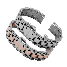 Quality stainless steel watchbands 16mm 20mm ladies bracelet replacement metal wristband for Prima Luna L8 series