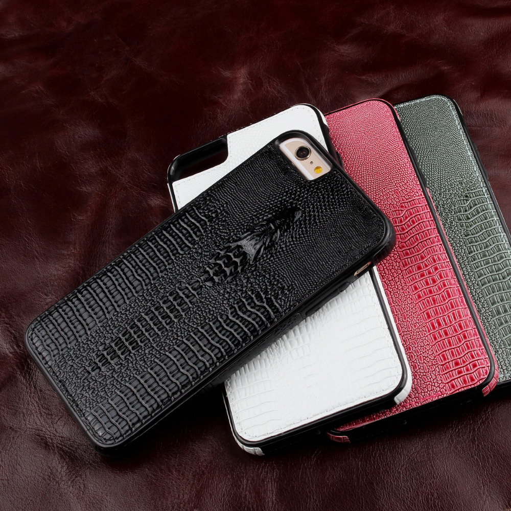 szHAIyu For 6 Plus Case -- New 3D Crocodile Head Pattern PU Leather Phone Case For iPhone 6S Plus Back Cover Shell Card Holder