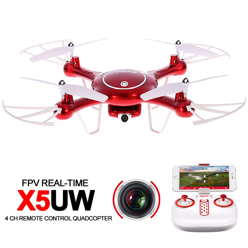 Syma X5UW 4CH RC Drone with Camera HD 2.4G Remote Control Quadcopter with FPV Wifi Real-time Transmission syma x5sw drone with wifi camera real time transmit fpv quadcopter x5c upgrade hd camera dron 4ch rc helicopter remote control
