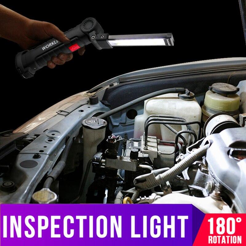 Hlxg Faltbare Cob Led Reparatur Licht Taschenlampe Flexible Hand Taschenlampe Arbeit Licht Magnetische Inspektion Lampe Usb Lade Kleine/große Starke Verpackung