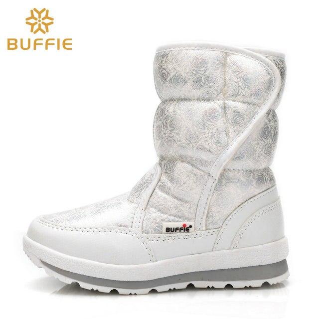 Белые ботинки для девочек, зимние ботинки для маленькой принцессы, красивые зимние ботинки, Размеры 25-33, легко Надеваемые ботинки на липучке