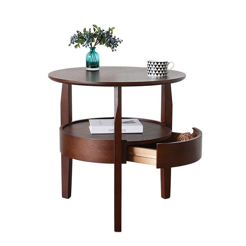 Coffee small round living room minimalist sofa side tables tea table Nordic simple a few edges and corners toughened glass small tea table phone sofa the round table