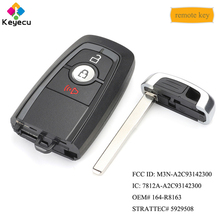 Reemplazo Keyecu llave remota inteligente de entrada sin llave 315 MHz FOB para Ford Edge Fusion F250 F350 F450 2017 2018 OEM #: 164 R8163