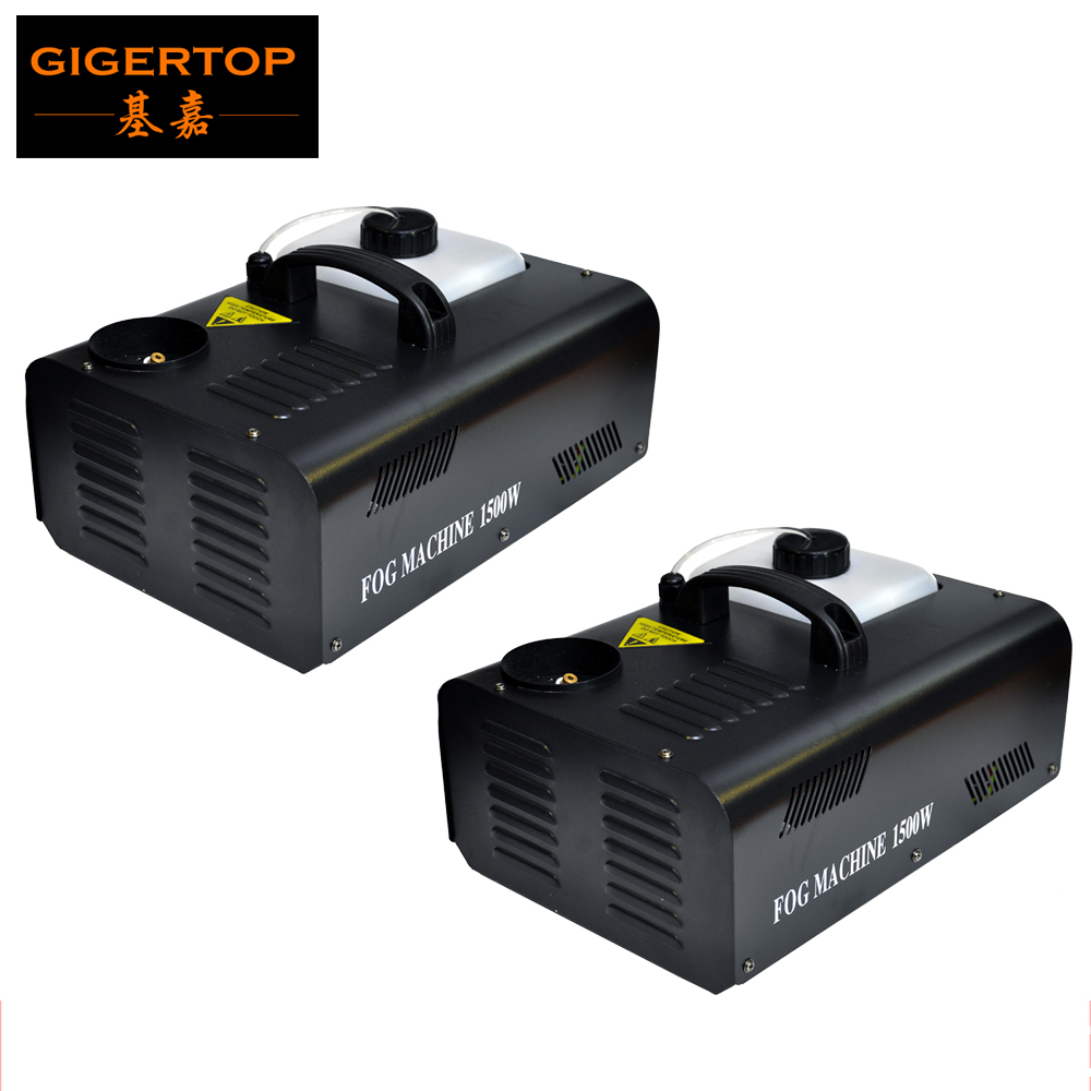 Free Shipping 2pcs/lot 1500W Up dj Smoke Machine DMX 512+Remote Control Spray Up Fogger Mini Fog Machine Vertical Smoke Machine
