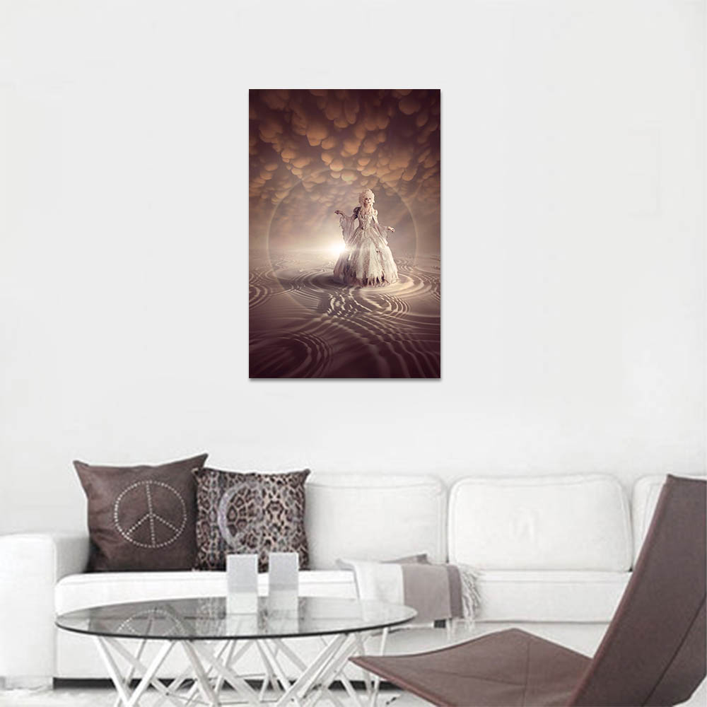 Unframed HD Canvas Prints Woman In White Dress Painting Prints Wall Pictures For Living Room Wall Art Decoration Dropshipping