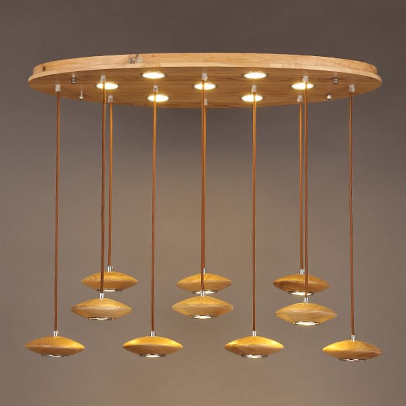 new creative design wood pendant light restaurant bar lobby creative flying saucer LED solid wooden pendant lamps ZA1110726 автоинструменты new design autocom cdp 2014 2 3in1 led ds150