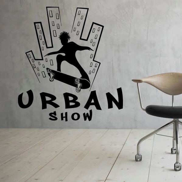 . US  7 43 25  OFF Urban Skate Wall Decal Extreme Sports Vinyl Wall Sticker  Teen Boys Room Decor Removable Skate Urban Show Wall Poster AY1668 in Wall