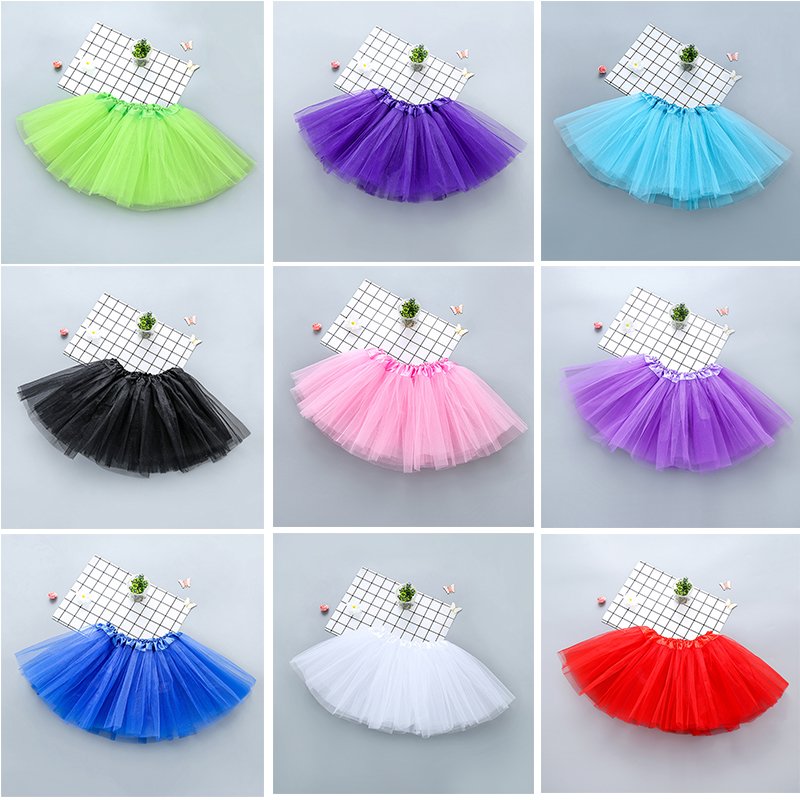 Baby Girls Kids Clothes Tutu Skirt Fluffy Pettiskirt Children Ballet Dance Skirts Princess Party Petticoats Girl Tulle Skirts