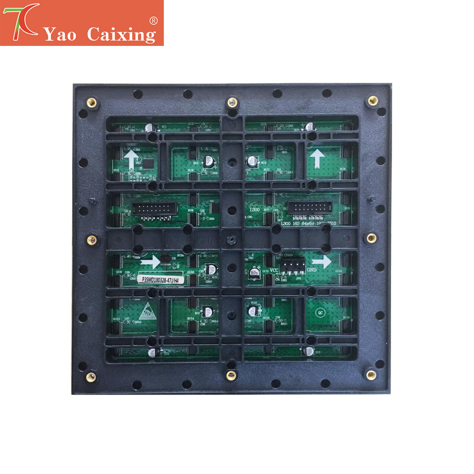 Yao Caixing 192x192mm P3 Outdoor Waterproof Full Color Smd Matrix Led Screen Module