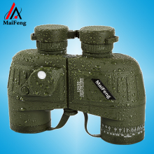 Large caliber multilayer green film lens waterproof night Binoculars telescope not infrared can measure the distance 10X50