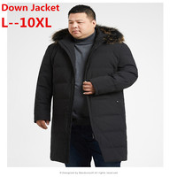 Plus 10XL 9XL 8XL 6XL winter 90% GOOSE DOWN Jacket male down parka thicken coat big fur collar harsh winter waterproof windproof