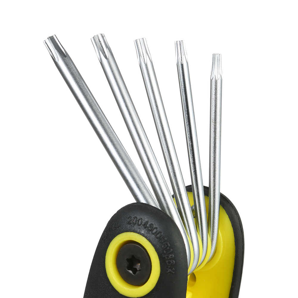 8 in 1 Portable Folding Torx Star Key Bit Screwdriver Wrench Set Tool Kit T9\T10\T15\T20\T25\T27\T30\T40 TU-BM-080