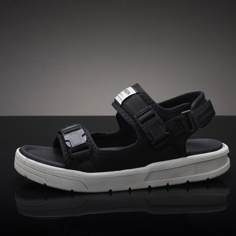 Shoes Thick Sole Men Beach Sandals 2019 Summer Man Shoes Ins Fashion Male Brand Holiday Sandals Black Non-slip Hot Sale Ka1278 Ideal Gift For All Occasions Men's Sandals