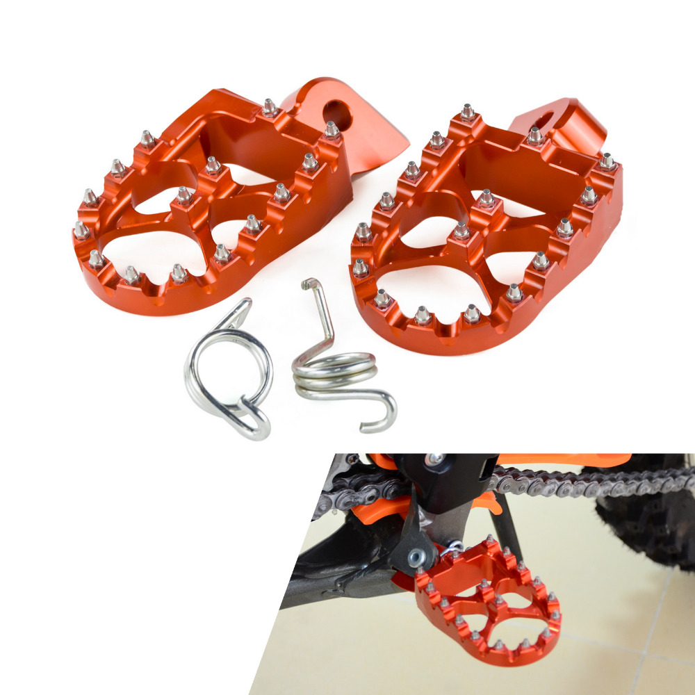 NICECNC MX Foot Pegs Rests Pedals For KTM EXC SX SXF XC XCF EXCF EXCW XCFW MX SIX DAYS 65 85 125 200 250 300 350 400 450 525 530