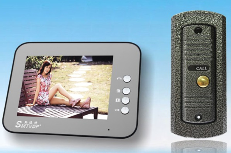 8 Inch TFT Monitor Rain-Proof Intercom Video Door Phone V7C-M