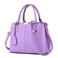 2016 Factory Directly Sale Lady Embossing Bag Female Korean Version Purple Solid Handbag Crossbody Shape Elephant