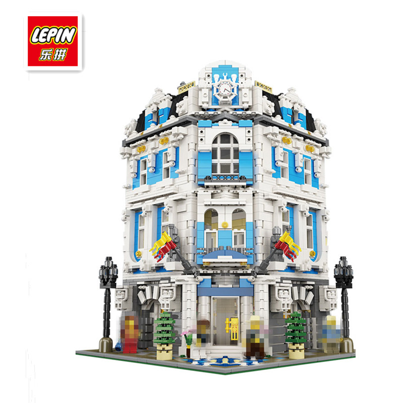 IN STOCK Free Shipping 2017 New Lepin 15018 3196 PCS New MOC City Series The Sunshine Hotel Set Building Blocks Bricks Toys