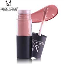 MISS ROSE 12-color cylindrical tube matte is not easy to stick cup lip gloss waterproof bleach