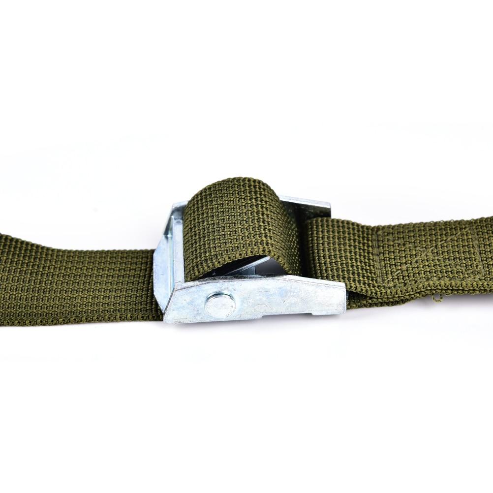 3 Colors 1 M 25mm Nylon Pack Tie Down Strap Lash Luggage Bag Belt Metal Buckle