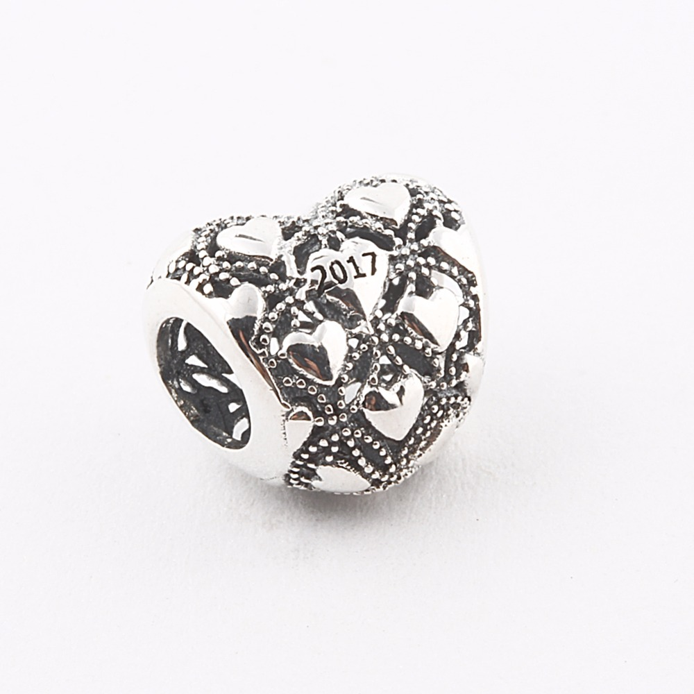 ZMZY Newest Style 2017 Christmas Heart Gift Authentic 925 Sterling Silver Club Charms Fit Original Pandora Bracelet for Women